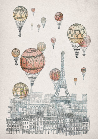 Voyages over Paris