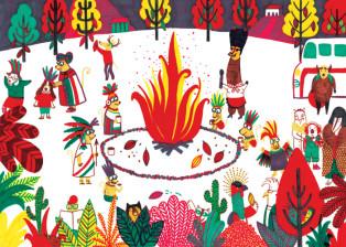 לילה עם שבט המאיה