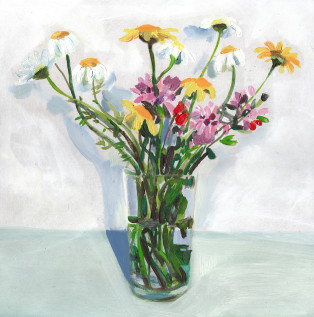 זר פרחים קייצי