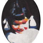 פורטרט ילדה עם קוקיות