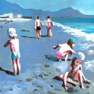 ילדים בחוף הים