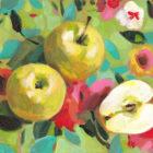 תפוחים על מפה