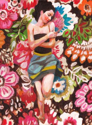 אשת הפרחים