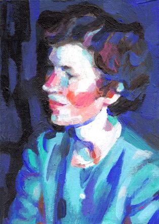 גברת בכחול
